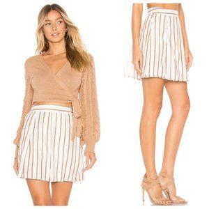 Revolve Tularosa Metallic Striped Layered Skirt